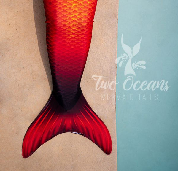 ember red orange mermaid tail south africa